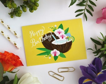 Coconut Card - Happy Birthday - Greeting Card