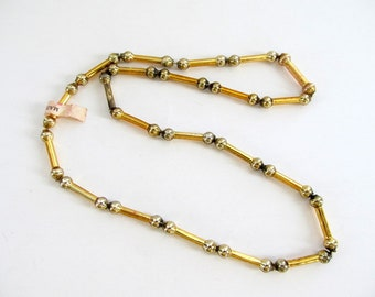 Vintage Mercury Glass Bead Garland/ Vintage Mercury Glass Bead Necklace