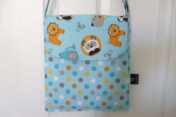Turq-Orange Animal Hip Adjustable Diaper Bag
