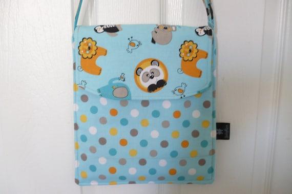 Turq-Orange Animal Hip Adjustable Diaper Bag
