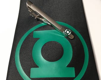 Green Lantern Necktie with Tie Clip