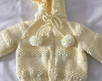 Yellow hooded sweater, size 1
