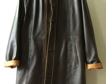 Soft Leather ladies Coat