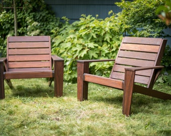 Custom Ipe Modern Adirondack Chairs