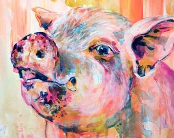 """Wilbur - 12x12"""" print"""