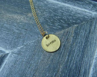 round Karma Necklace: necklace 18 k gold plated