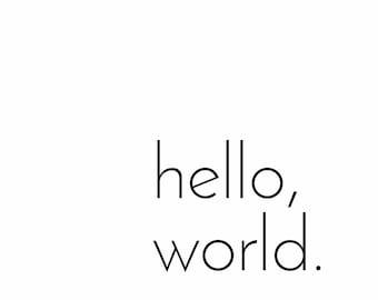 Hello World Print