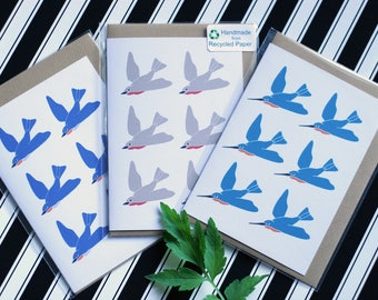 Mix & Match Multipack - Set of 3 Ecofriendly Greeting Cards - 100% Recycled Paper and Biodegradable Packaging