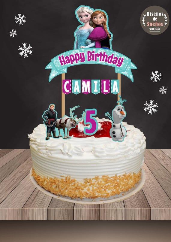 Frozen Cake Topper Frozen Birthday Frozen Party Banderin de