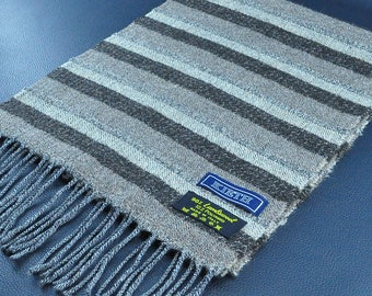 """Kieth Scarf Striped Pattern Lambswool Scarf Made in Italy 58"""" X 11"""""""