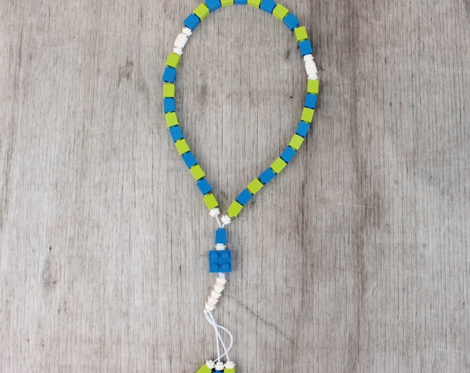 Lego Tasbih Islamic Prayer Beads - blue and green