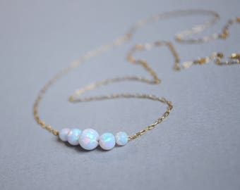 Opal necklace. October birthstone. Valentine Day gift for her. White Opal. Fire opal. Blue Opal Jewelry. Opal jewelry for women. Opal gift