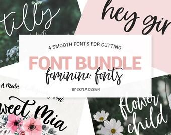 Font Bundle, Modern calligraphy font, Silhouette fonts, handwritten fonts, wedding font download, Digital fonts, handwritten fonts, fun font
