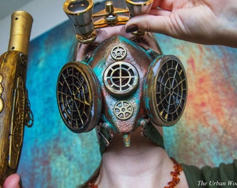 The Valkyrie | Officer Issue Steampunk Mask Respirator | Steampunk Costume | Steampunk Cosplay
