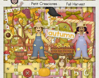 "KIT SCRAPBOOKING DIGITAL ""Fall harvest"""