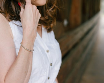 Stackable Bracelet - Rope Bracelet - Silver Cuff Bracelet - Silver Bracelets for Women - Open Bracelet - Stacking Bracelets - Open Bangle
