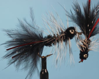 """3-pack """"Night Ryder"""" flies, Trout flies, streamer flies, Wooly Bugger, Bass flies, Panfish flies"""