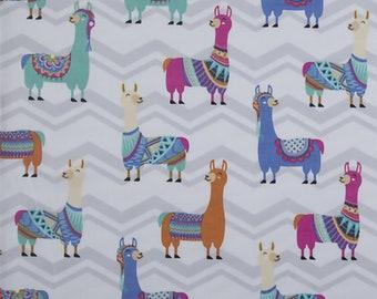 Llama fabric duck cotton fabric llama  duck fabric fabic by the yard novelty fabric llama duck print duck cotton fabric cotton by the yard