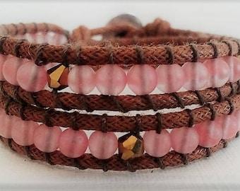 Boho Wrap Bracelet The Cherry Quartz