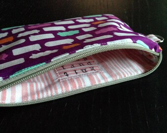 Zipper Pouch - Babble Bubbles, purple (PB0331)