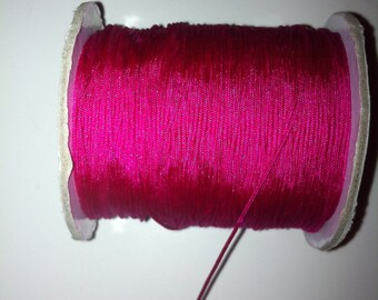2 meters of fuchsia pink nylon braided 0.8 mm very durable
