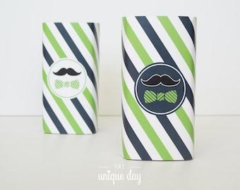 little man birthday juice box wrapper - mustache birthday - little man baby shower printable - INSTANT download - DIY // MUST-12