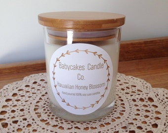Hawaiian Honey Blossom 100% hand poured soy wax candle