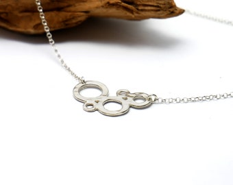 Awa bubble small adjustable necklace. Sterling silver.