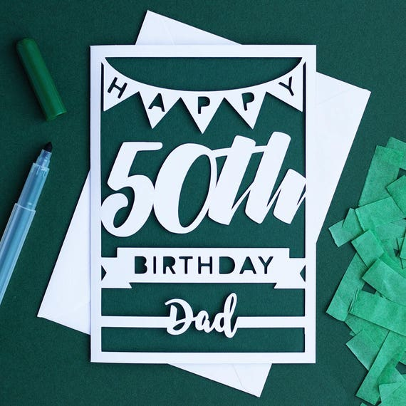 Dad 50th Birthday Card Dad Milestone 50th Birthday Happy