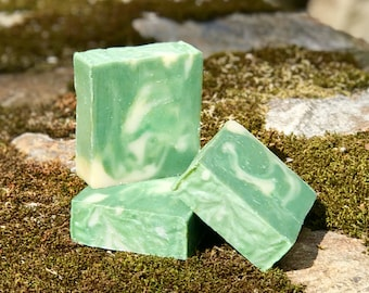 Cedarwood and Bay Leaf - Handmade All Natural Soap with Aloe and Australian Green Clay