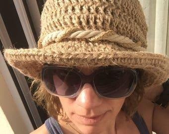 Summer hat, hemp hats, sun hats, womens sun hats,  Beach Hat, fashion hats, festival hat, straw hat, fedora hats, Mother's Day gift