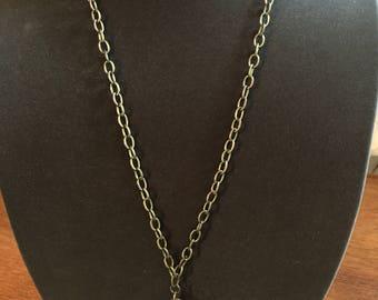 Steampunk assemblage watch necklace