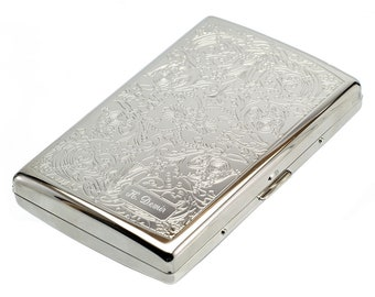 Personalized Cigarette Case bms375 / Custom Engraved Name