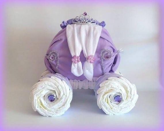 Princess Carriage Princess Diaper Cake Unique Baby Girl