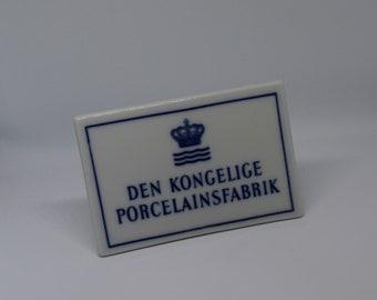 Royal Copenhagen - Unique Signboard - 1960's - Excellent Condition