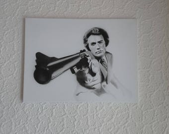 Clint Eastwood. Magnum Force on canvas