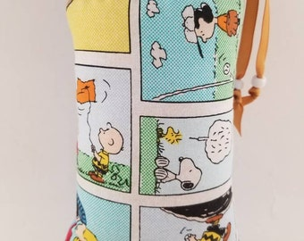 EXTRA MEDIUM, Padded Bag, Pipe Bag, Pipe Pouch, Peanuts, Charlie Brown,  Print, Cover, Glass Protection, Case