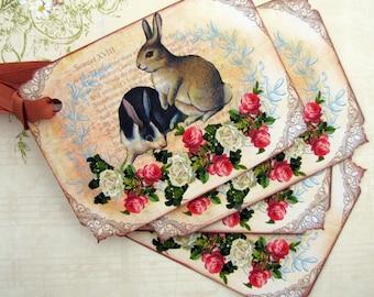Shabby Rabbit Gift Tags