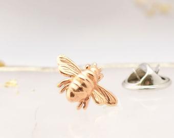 Rose Gold Bee Brooch, Rose Gold Bee, Bee Pin, Bee Jewellery, Bee Brooch