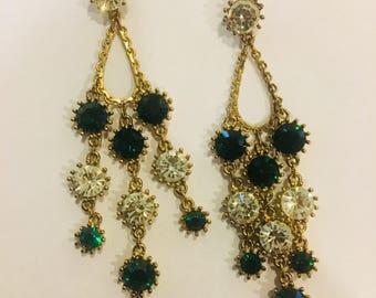 Emerald city chandelier earrings