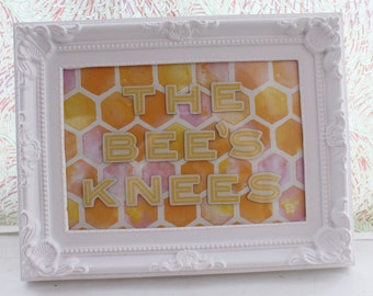 The Bee's Knees Framed Quote Picture