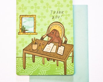 thank you card for coworker, dog greeting card, office thank you card, coworker card, colleague thank you, co worker thank you, employee