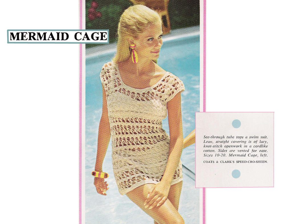 PDF of vintage women\'s crochet pattern, \