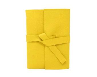 Yellow Leather Gratitude Journal, Mindfulness Journal, Happiness Journal, Meditation Journal, Custom Leather Journal, Yellow Leather Diary