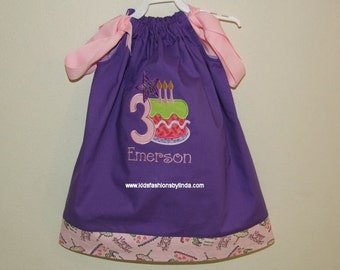 Purple/Pink Birthday Cake Dress