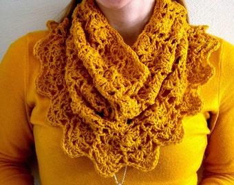 Crochet Pattern | Lacy Shell Cowl Pattern | Crochet Shells Scarf Pattern | Crochet Cowl Pattern | Crochet Scarf Pattern