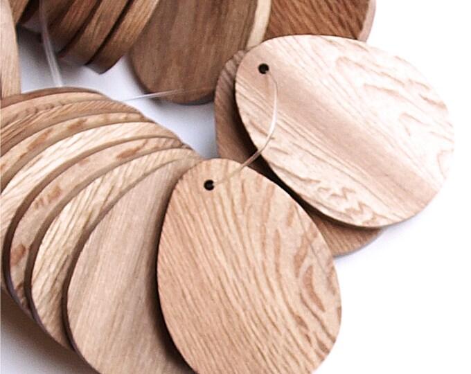 Wood Pendant, Flat Teardrop 30x40mm, Rosewood - 2 Pieces (WDTDF-40RS)