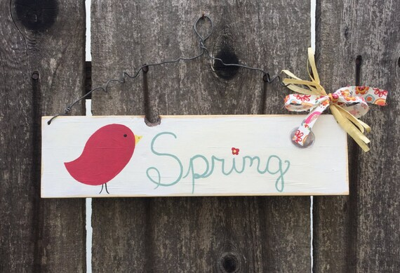 Rustic Spring Hanging Sign Wooden Signs For Outdoor Indoor Decor Gifts
