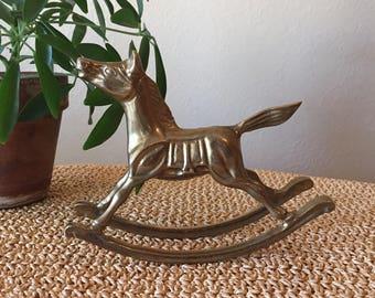 Brass Rocking Horse