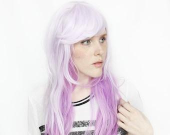 Pastel wig | Purple wig, Long Purple wig, Pink wig, White wig | Wavy wig, Scene Hair wig, Scene wig | Lollipop Fields